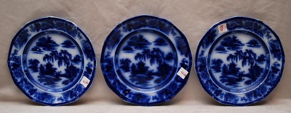 18: 6 Flow blue plates (chips)