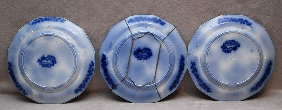 18: 6 Flow blue plates (chips) - 2