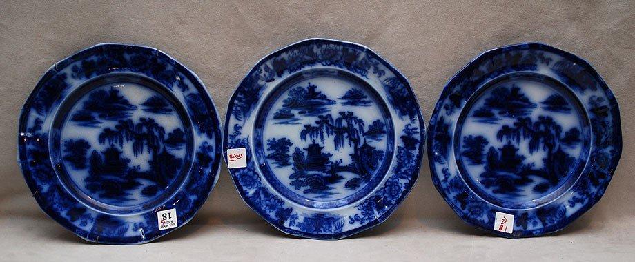 18: 6 Flow blue plates (chips) - 3