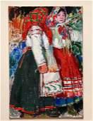 159: LEON GASPARD (American/Russian 1882-1964) oil on b