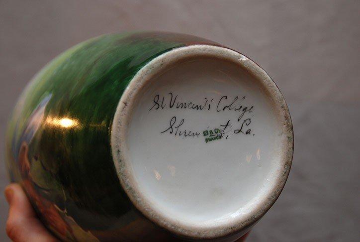 """5: Vase, signed """"B & C France"""" In script """"St. Vincent C - 4"""