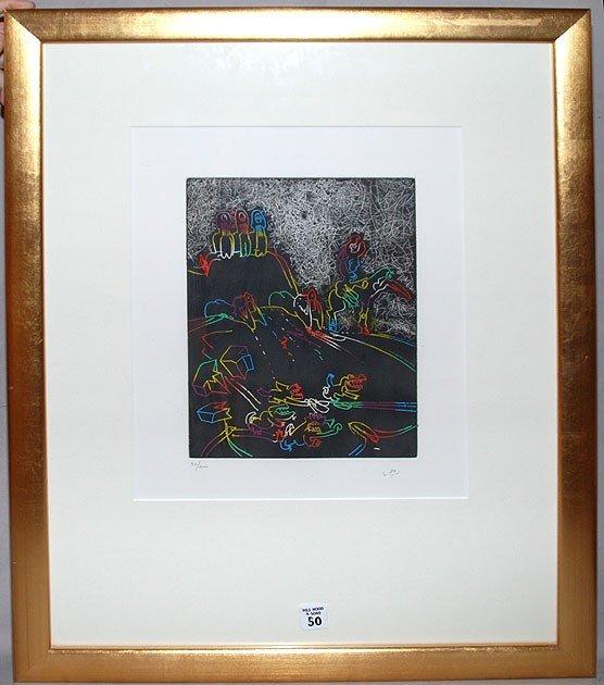 """50: ROBERTO  MATTA, Chilean 1911-2002, """"Expressionist F"""