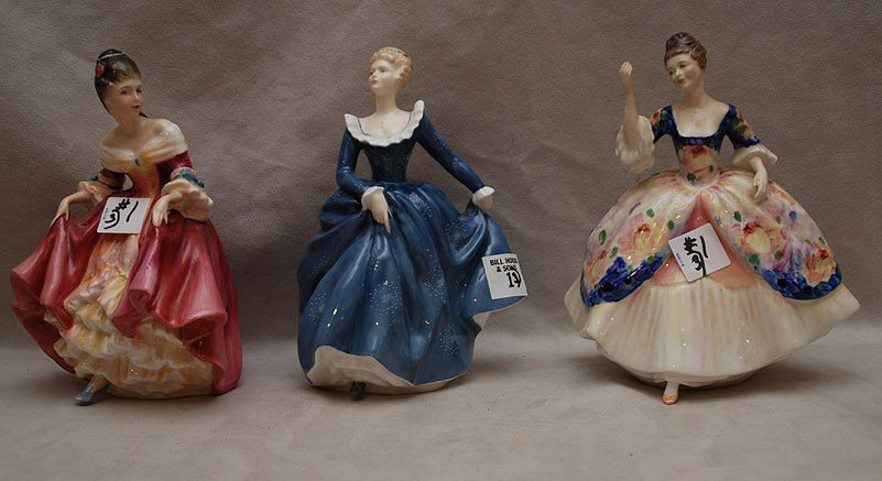 "1: Three Royal Doulton figures of ladies: HN2792 ""Chris"