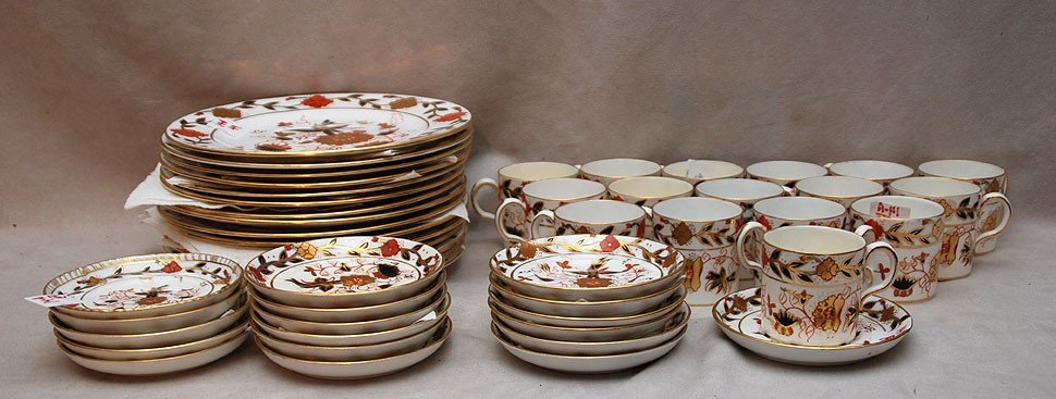 "14A: Royal Crown Derby partial dessert service ""Imari"""