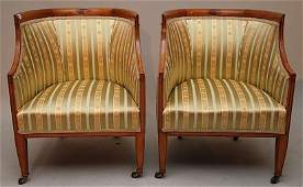155A: 7pc. Continental parlor suite, incl; settee, 2 a