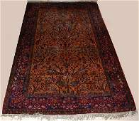 224 Antique Persian silk Kashan Rug Tree of Life 8