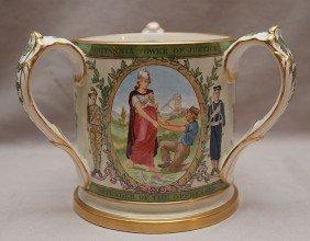 "Copeland Commemorative 3 Handled Mug ""Victoria Queen"