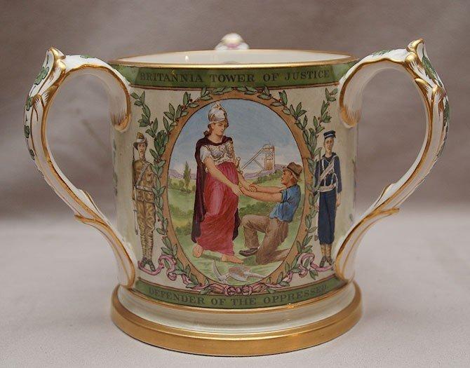 "3: Copeland commemorative 3 handled mug ""Victoria Queen"