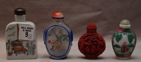 9: 4 Chinese snuff bottles