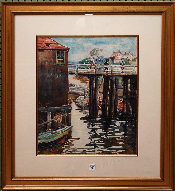 48: Carle M. Boog, (American 1877-1967), watercolor, Do