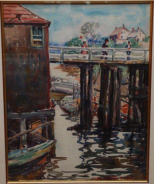 48: Carle M. Boog, (American 1877-1967), watercolor, Do - 3