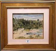 53: John Coleman (British 20th Century) watercolor , fi