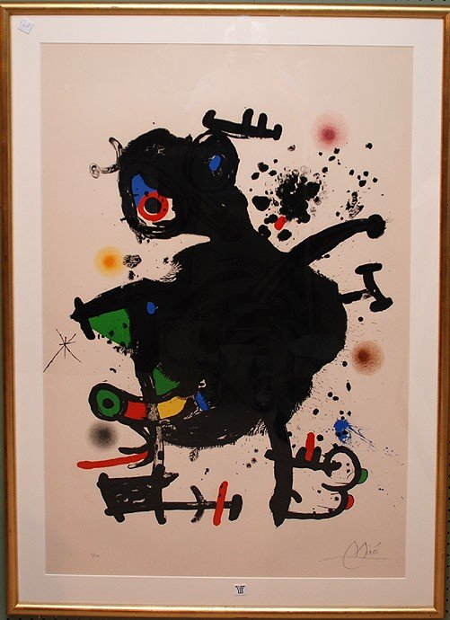 115: Joan Miro  (Spanish 1893 - 1983) Original color Li