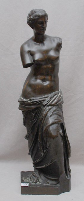 19th Century Patinated Bronze Classical Female Fig