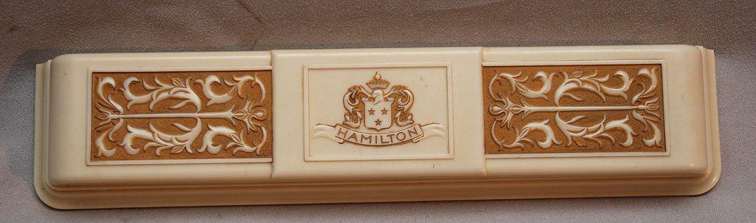 189D: Vintage platinum & diamond ladies Hamilton watch, - 4