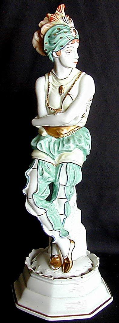 "262: ART DECO ROSENTHAL FIGURE 14""H A fabulous Art Deco"
