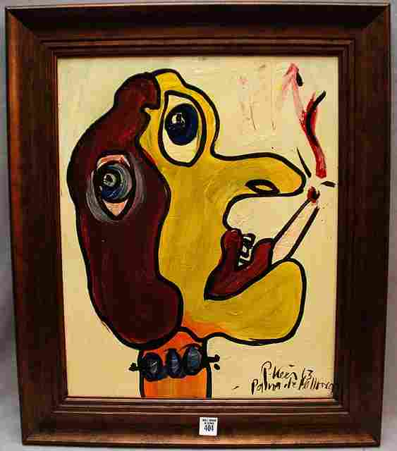 404: Peter Keil (German born 1942) oil on canvas, abstr