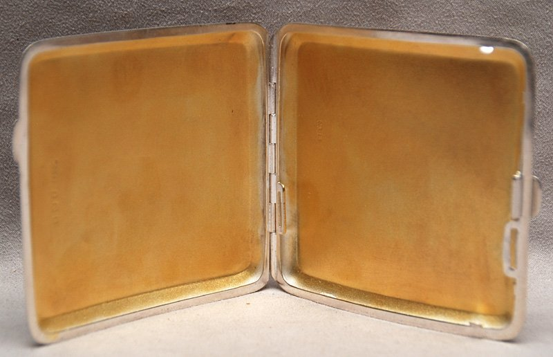 10: 1950s English sterling and enamel compact - 3