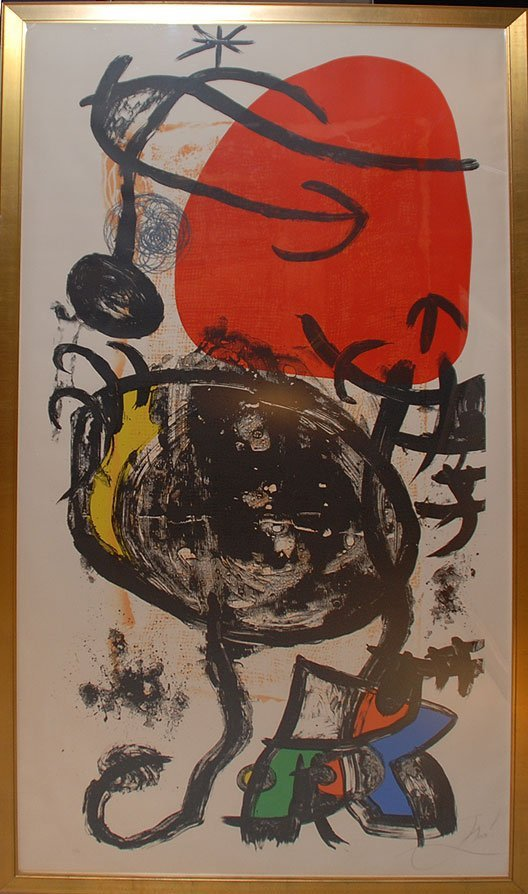 197: Joan Miró SPANISH Color Lithograph L'halterophile