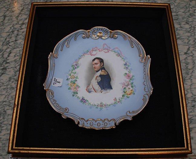 """8: Porcelain portrait plate of Napoleon, 11""""dia"""