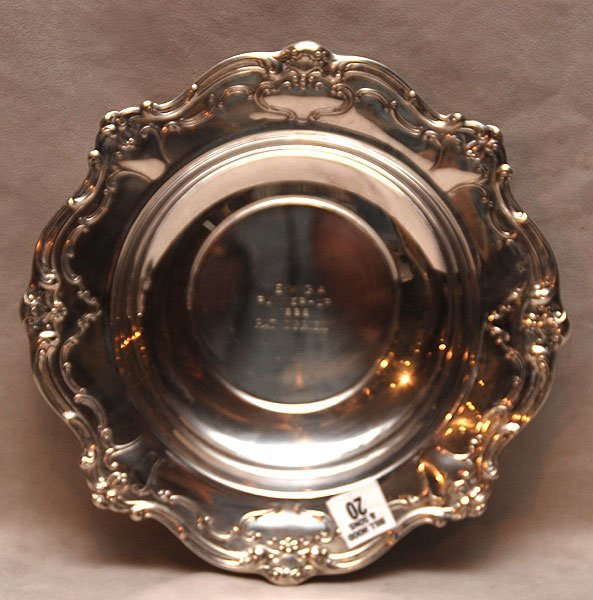 "20: Gorham sterling presentation bowl, 1968, 13oz, 2""h"