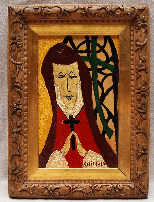 "96: CECIL COLLINS, British 1908 – 1989,""Woman Praying"""