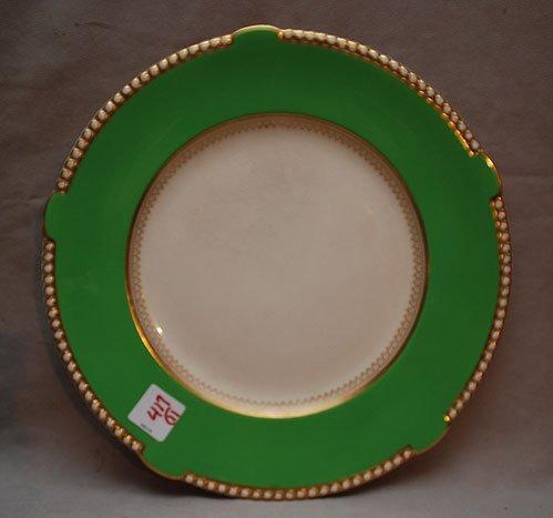 "417: 11 Soho pottery ""Ambassador Ware England"" green pl - 3"