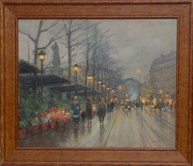 Paul Renard (FRENCH, 1941-1997) Oil On Canvas, Pari