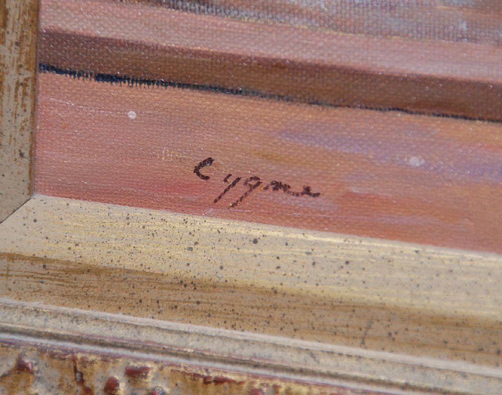 398: Pr. French School oil paintings by E.J. Cygne - 3
