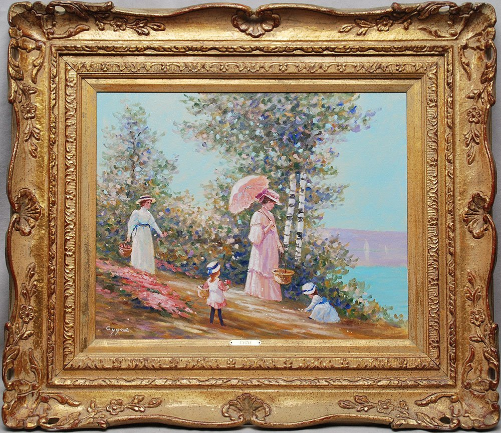 398: Pr. French School oil paintings by E.J. Cygne - 5