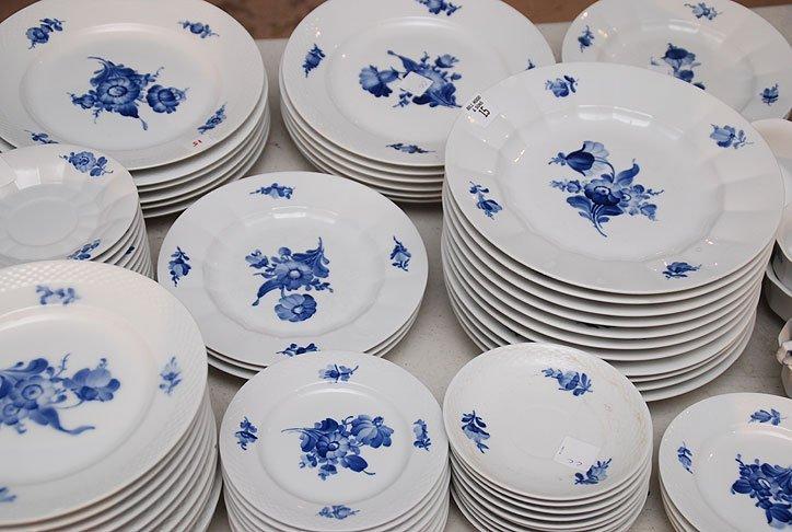 "15: 2 Royal Copenhagen china sets, ""Blue Flowers"" and """