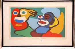 Karel Appel (DUTCH, 1921-2006)  Colored Lithograph,