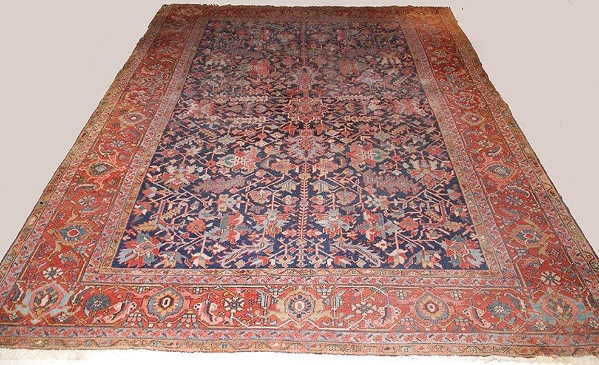 """320A: Semi Antique Persian Rug,  13'6"""" x 9'6"""""""