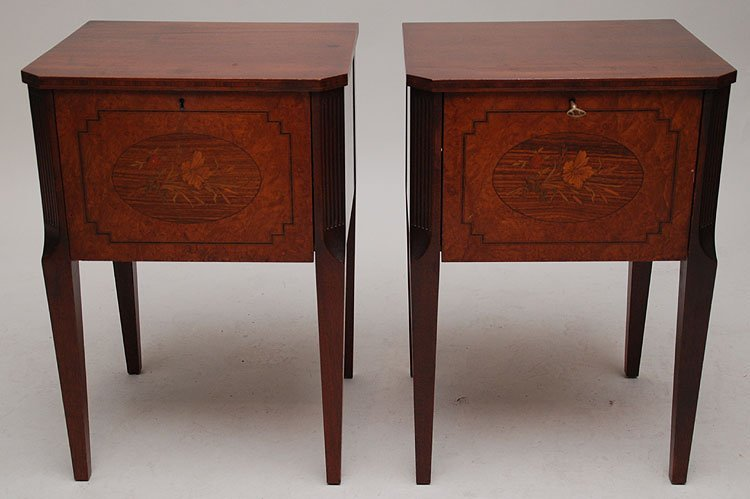 2: Pair mahogany end tables