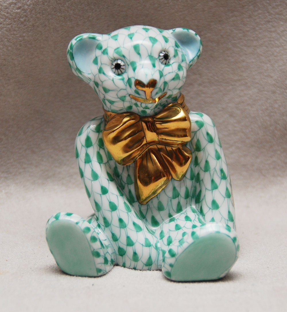 "22: Herend teddy bear, 2 1/4""h"