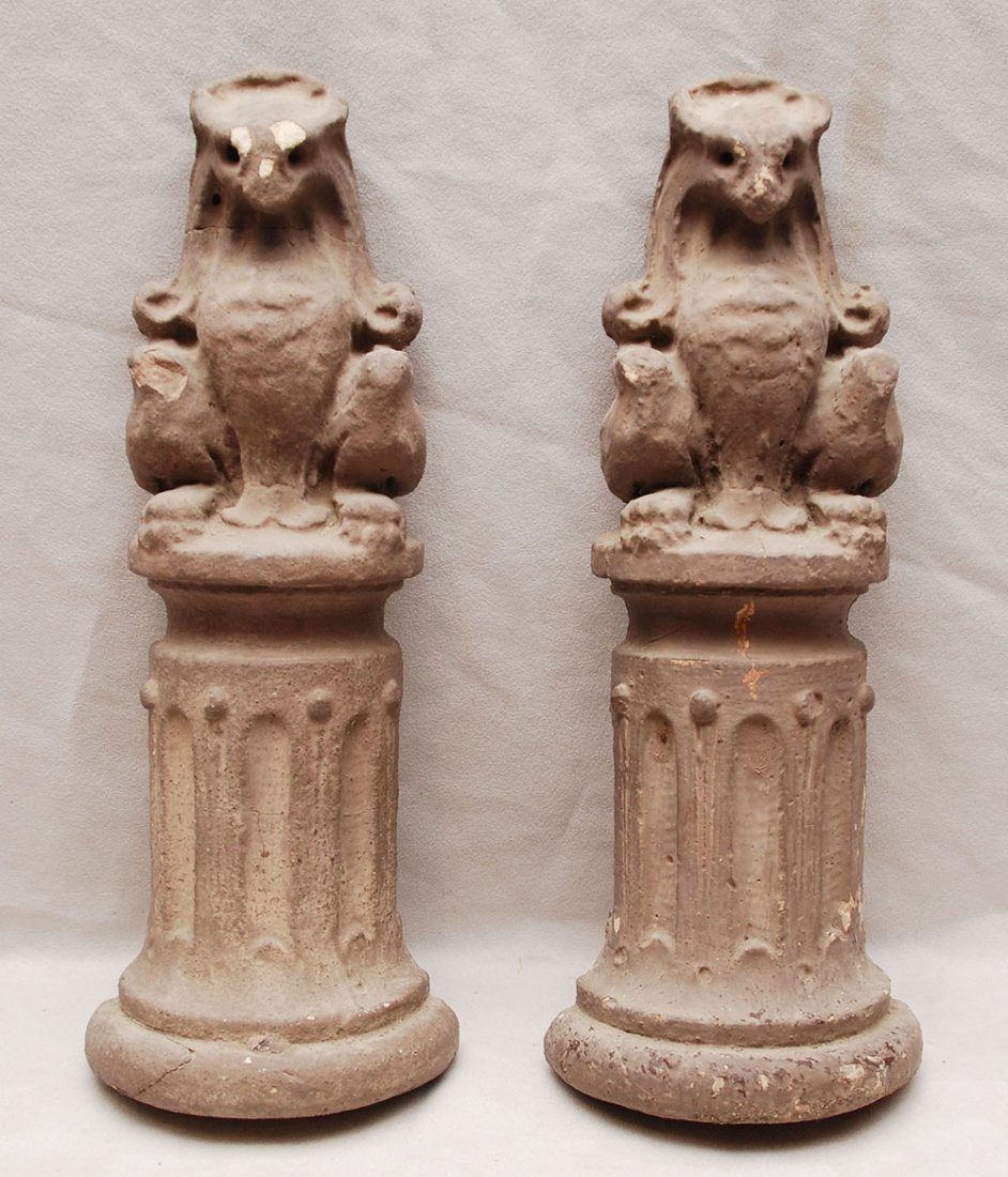 "10: Pair of cement mythological animals, 15""h"
