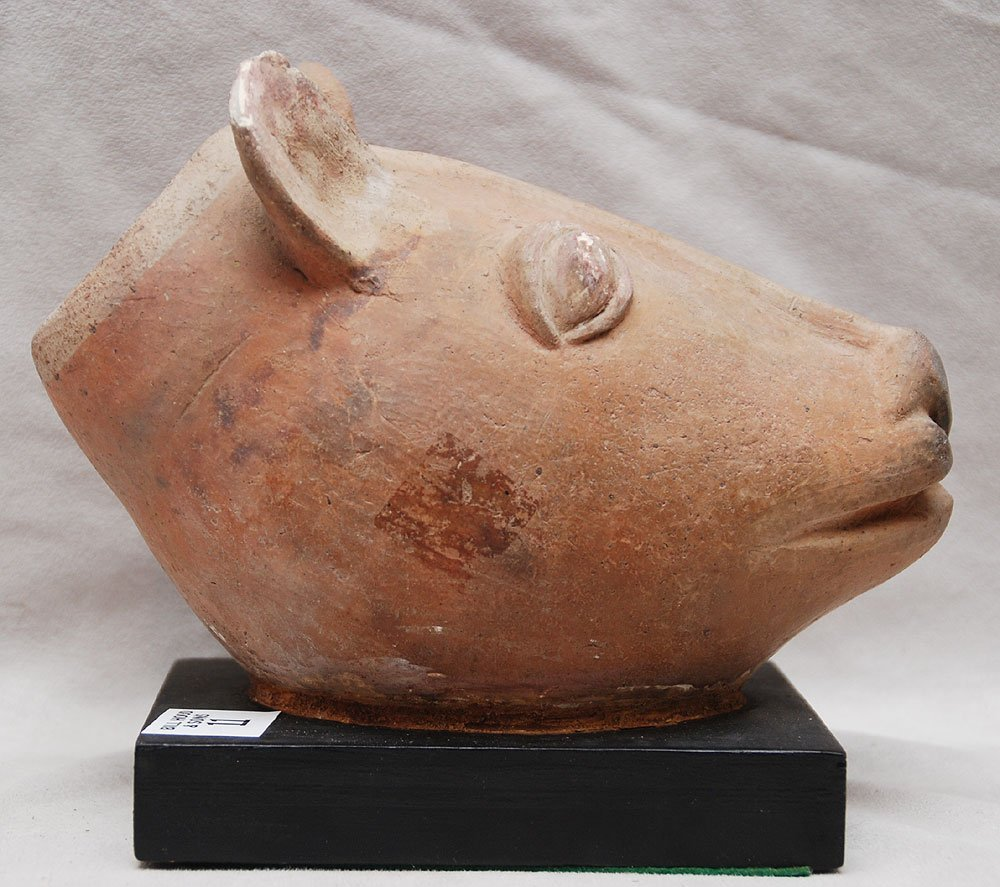 11: This piece is purported to be Pre-Columbian, it's b