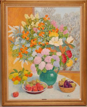 1: Marie-Lucie Nessi-Valtat (FRENCH, 1900-1992) oil on