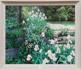 7: Susan Rios (AMERICAN, 1950) oil on canvas, outdoor g