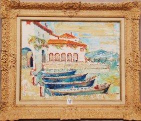 Italian School Signed Fiedler '63, Oil On Canvas, Bo