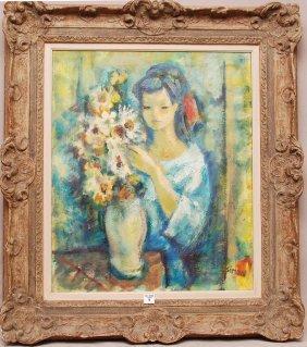9: Boris Simon (Rus/French born 1923)  oil on canvas