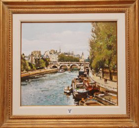 10: Gérard Passet (FRENCH, 1936) oil on canvas, Paris