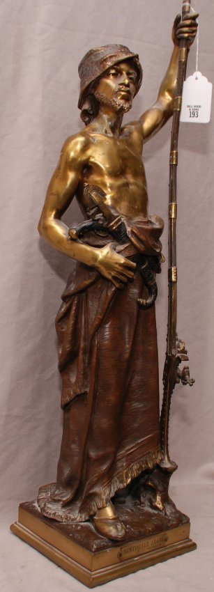 193: Original Bronze Arab on lookout by Joaquin Angles