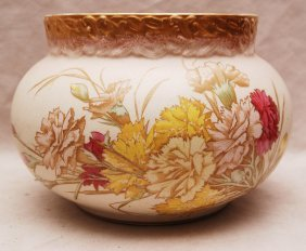 "21: 19th c. floral porcelain vase, ""H&M Regal China"""