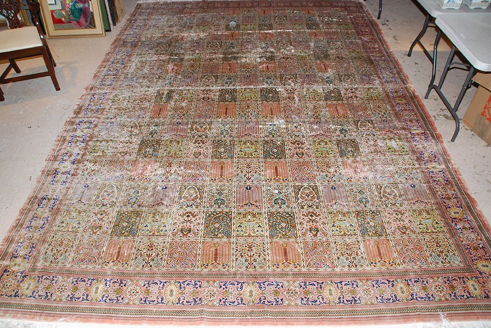 425: Large Chinese Silk Rug, 10' x 14' - 2