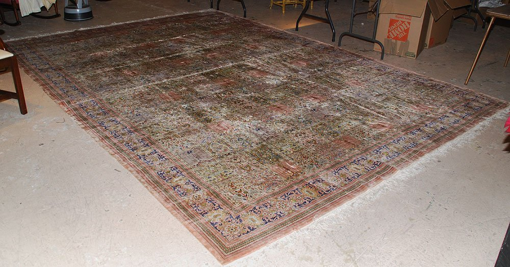 425: Large Chinese Silk Rug, 10' x 14' - 3