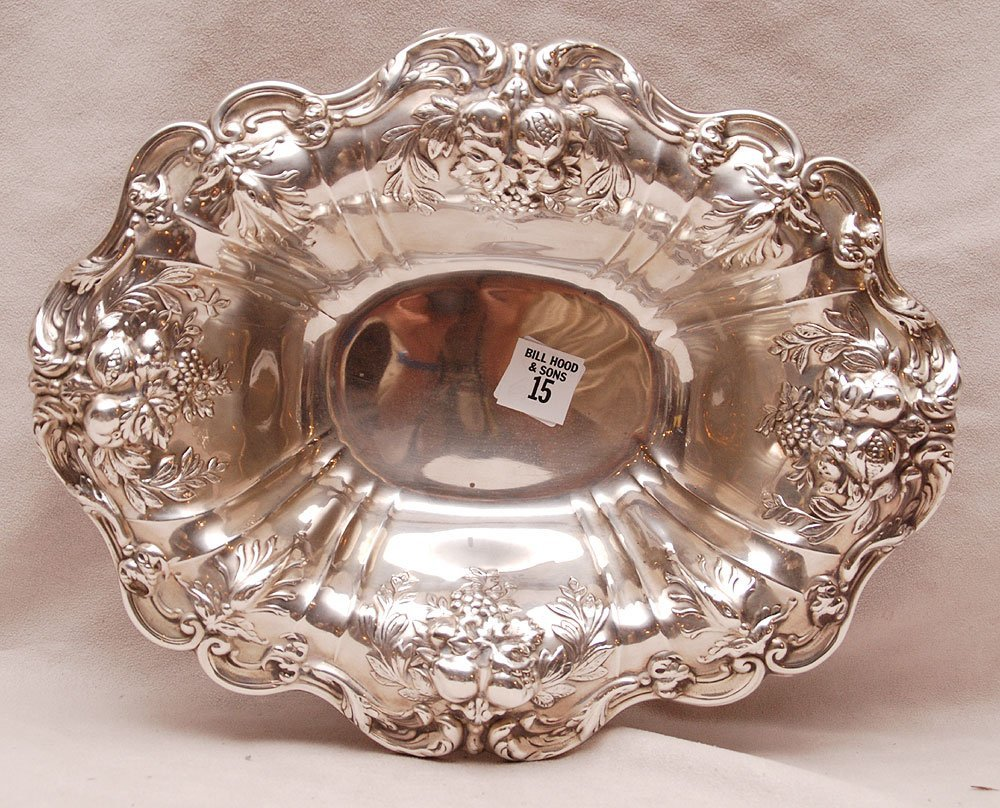 """Francis I footed sterling bowl, 21oz, 3""""h x 12 1/2""""w"""