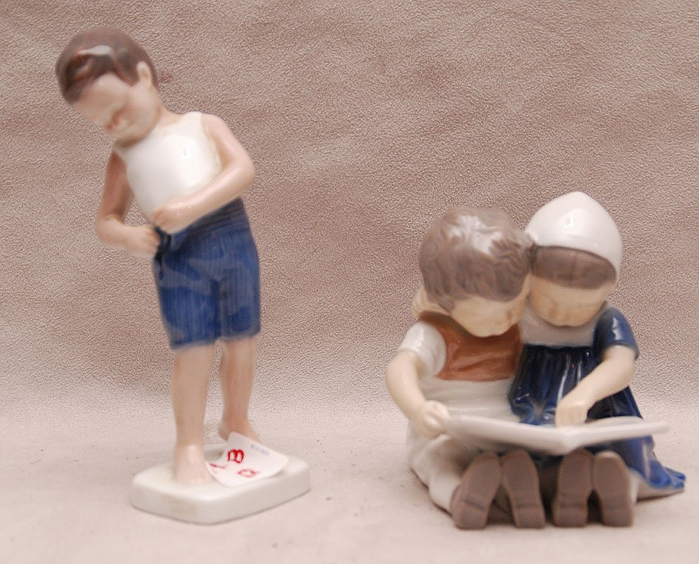 """2 B&G porcelain figures, 5 1/2""""h and 3 3/4""""h"""