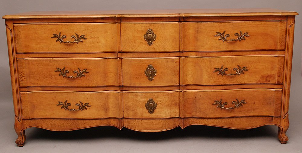 French provincial style 9 drawer dresser, marked Bodart