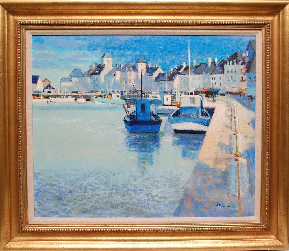 French School 20th Century signed P. Neveu? Oil on canv